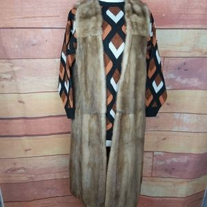 Real mink full lenght sleeveless vest
